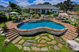 pool medium backyard pools ideas with above ground rustic entry ft