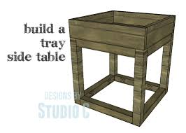 another easy to build end table with lots of style u2013 designs by