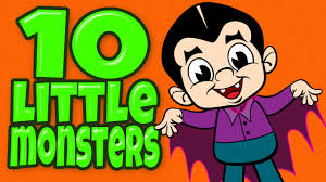 Cartoon Halloween Monsters Halloween Songs For Children With Lyrics Ten Little Monsters