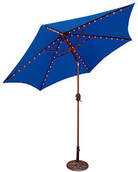 Aluminum Patio Umbrella by Amazon Com Tropishade Tropilight Led Lighted 9 Ft Bronze