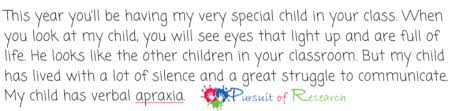 sample letters to your child u0027s new teacher for apraxia autism or