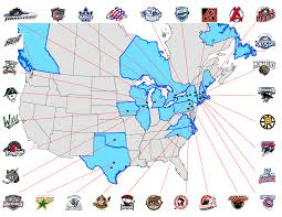 Mlb Fan Map Next Major League Expansion Team Minor League Hockey Ahl And