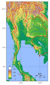 Topographical Map Of Usa by Large Detailed Topographical Map Of Thailand Thailand Large