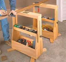Free Wooden Tool Box Plans by Tool Tote Sawhorses I U0027m Often Looking For A Place To Set Tools