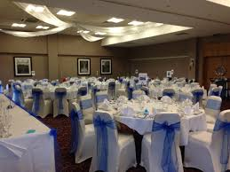 royal blue chair covers wedding chair covers with royal blue sashes stylish events mk