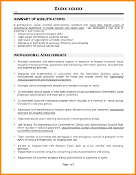 Sample Resume With Summary Of Qualifications Administrative Assistant Resume Summary Of Qualifications