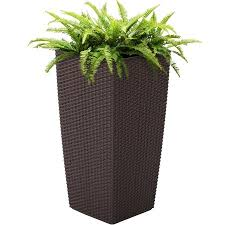 Self Watering Planters by Best Choice Products Self Watering Garden Patio Wicker Planter W