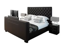 Bed Frames Montreal Tv Bed Frame King Size Montreal Tv Bed Faux Leather 32 Samsung Tv