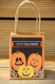 halloween treat bag craft gift bags the handmade card blog