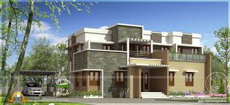 modern flat roof house with 4 bhk kerala home design and floor plans