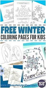 free winter coloring pages for kids the mummy toolbox