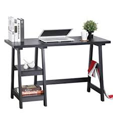 amazon com computer writing desk laptop table trestle pc wood