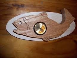 wooden fish wall clock jonfine on artfire