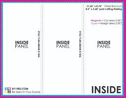 tri fold brochure inside professional samples templates high