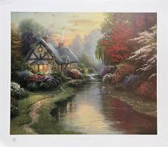 Thomas Kinkade Clocktower Cottage by Thomas Kinkade Auction Results Thomas Kinkade On Artnet