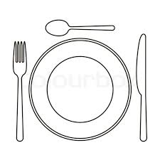 kitchen forks and knives plate knife spoon and fork stock vector colourbox