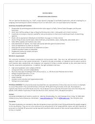 Job Gateway Resume by Sales Assistant Job Specification Sample Resume Format