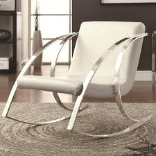White Leather Accent Chair White Leather Rocking Chair Steal A Sofa Furniture Outlet Los
