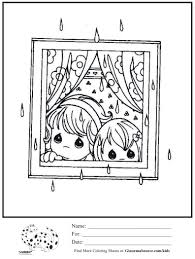 kids coloring page rainy day ginormasource kids