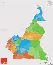 map of cameroon political 3d map of cameroon cropped outside