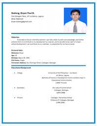 Resume Sample Format Philippines by Format Of Curriculum Vitae In The Philippines Resume Include