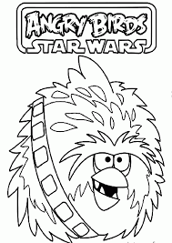 angry birds star wars chewbacca coloring pages best coloring