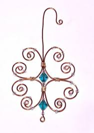 beaded wire ornament