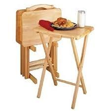 Kitchen Folding Tables by Amazon Com 5 Piece Tv Tray Snack Dinner Folding Table Set