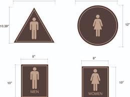 Mens And Womens Bathroom Signs Bathroom Sign Height Descargas Mundiales Com