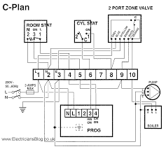 wiring diagram for c plan central heating systems electrician s