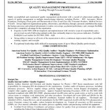 Qa Manager Resume Sample by Quality Control Resume Examples Quality Manager Resume Aviation