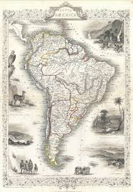 Patagonia South America Map File 1850 Tallis Map Of South America Geographicus