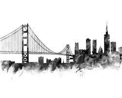 san francisco skyline black and white san francisco poster