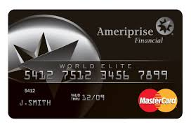 elite debit card ameriprise financial and mastercard worldwide launch credit debit