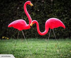 pink flamingo garden ornaments 2 pack gardening trade me