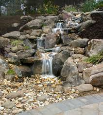 nice outdoor rock fountains waterfalls home and garden stone wall