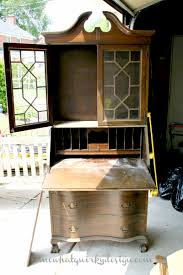 Secretarys Desk by Somewhat Quirky Making An Old Secretary Beautiful Again With
