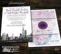 wedding invitations nyc new york city skyline and map wedding invitation 2533845 weddbook