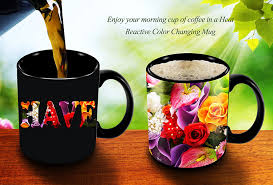 magic coffee mugs heat sensitive color changing coffee mug good