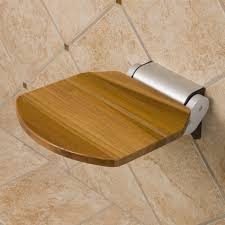 Teak Wood Shower Bench Solid Golden Teak Folding Shower Seat Bathroom