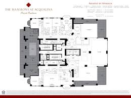 one miami floor plans mansions at acqualina one miami homes