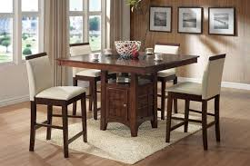 roxy lazy susan storage base 5 piece counter height dining set in