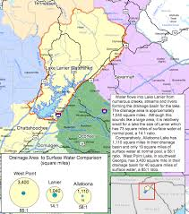 lake lanier map lake lanier and lake allatoona water basins lake lanier