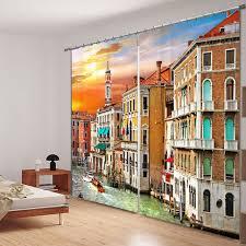 chambre hote venise venise italie l eau ville rideaux 3d photo impression panne pour