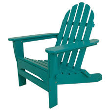 Turquoise Chair Polywood Classic Slate Grey Patio Adirondack Chair Ad5030gy The