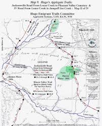 Map Of Oregon Trail by Applegate Trail Map Ii