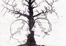 can you work out how many faces are in the tree the
