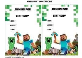 free printable birthday invitations minecraft blank birthday invitation template minecraf on block party