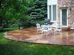 Stamped Concrete Patio Prices by Decor U0026 Tips Outdoor Patio With Wrought Iron Patio Furniture And