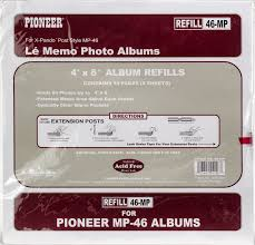 pioneer photo albums refill pages pioneer 6 up refill pages 6 pkg for mp46 photo album walmart